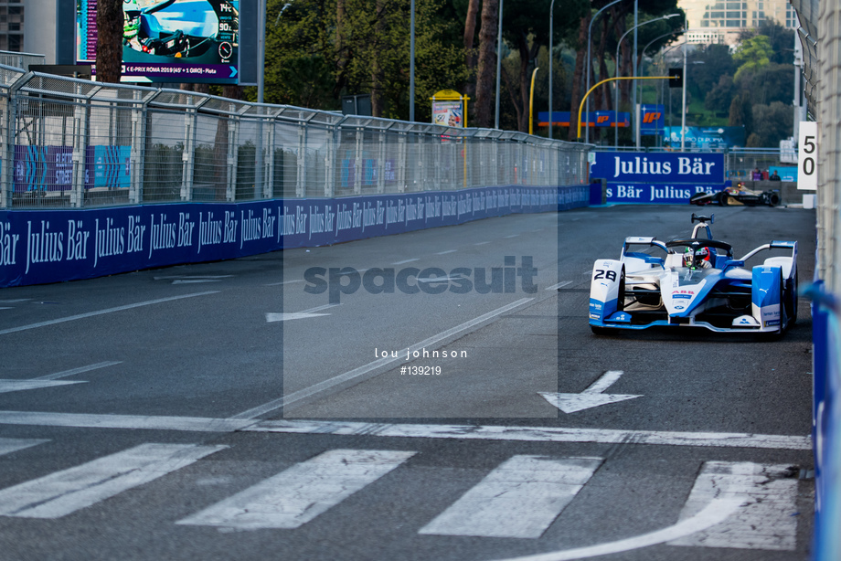 Spacesuit Collections Image ID 139219, Lou Johnson, Rome ePrix, Italy, 13/04/2019 06:09:47