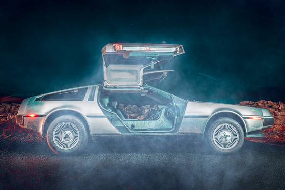 Visions of the future: Delorean meets Tesla for Influx Album Cover Photo